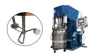 A delivery of 200L butterfly-type dual-shaft multi-functional mixer