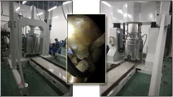 Dual planetary mixer's perfect performance for high-viscosity silica gel production