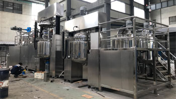 Delivery of complete set of emulsifying equipment for cosmetics