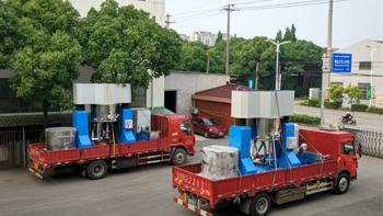 Order flow of high viscosity planetary mixer