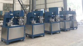 Successful delivery of 5 sets lab scale double planetary mixer from WUXI YINYAN in August 2018