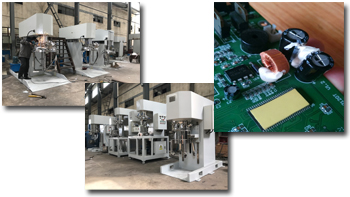 Introduction of adhesive for electronic products & high-viscosity slurry mixer