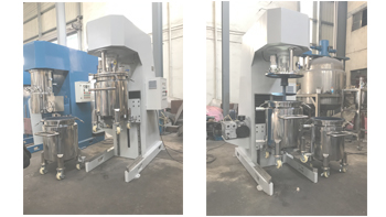 Customer acceptance of YINYAN vacuum lifting mixer machine