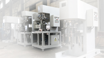 Resin mixing machine testing YINYAN double planetary mixer