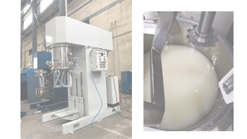 Applications in high viscous hot glue of YINYAN double planetary mixing machine