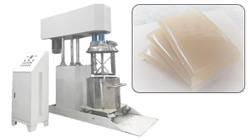 Applications in middle and low viscous hot glue of YINYAN multi-functional double shaft mixer machine