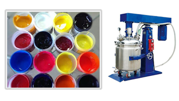 YINYAN high viscous paint paste dual shaft mixer machine