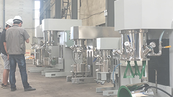Consulting fiber material planetary mixing equipment from Wuxi YINYAN and visiting us