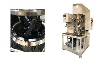 Customer testing of high viscous paste mixing equipment