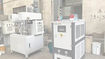 Customer experiment of graphene mixing equipment YINYAN dual planetary mixer