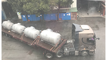 Successful delivery of YINYAN storage tanks and multi-functional double shaft mixer