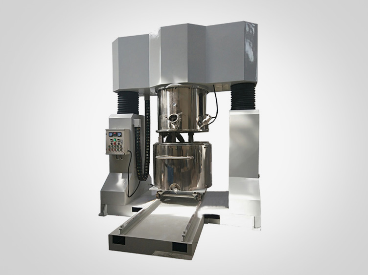 Powerful dual planetary mixer