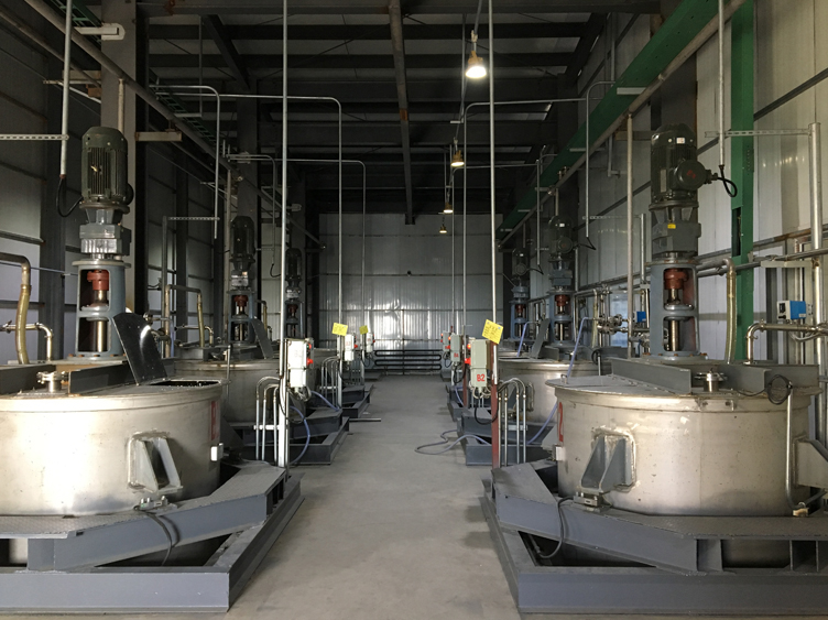 Washing production line for fluorine chemicals