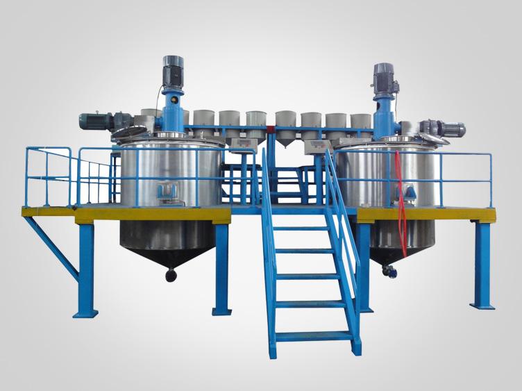Bidirectional mixing kettle liquid mixing vessel