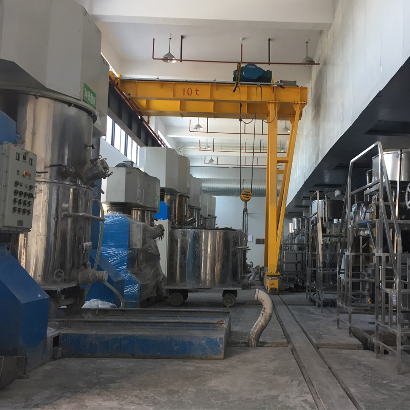 Solar cell slurry production line