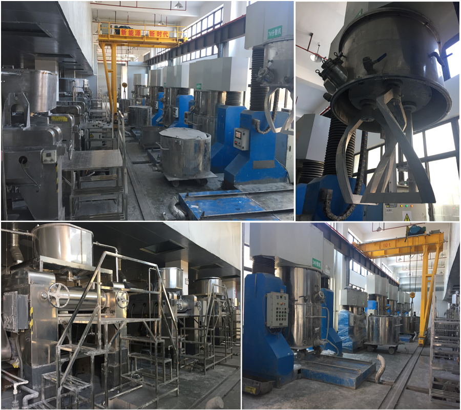 Complete production line for battery slurry
