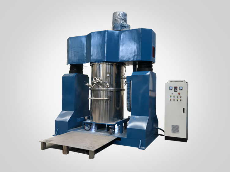 Paddle type agitator double planetary mixer machine